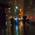 Silhouettes In The Rain - Umbrellas On 42nd by Miriam Danar
