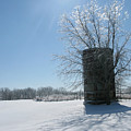 Silo In The Snow by Martie DAndrea