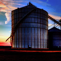 Silos At Sunset by Mountain Dreams