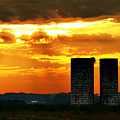 Silos At Sunset by Michelle Joseph-Long