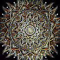 Silver And Gold Mandala by Artful Oasis