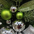 Silver And Green For Christmas by Dora Sofia Caputo Photographic Design and Fine Art