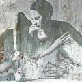 Silver Ballet Dancer Sitting  by Tony Rubino