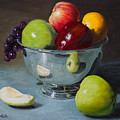 Silver Bowl Of Fruit by Michael Malta
