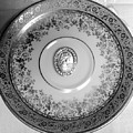 Silver Cameo Plate by Jacqueline Manos