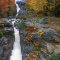 Silver Cascade In Autumn by John Burk