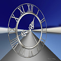 Silver Clock 3 D by Chuck Staley