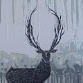 Silver Deer by Polina Kamenska