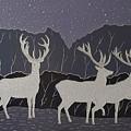 Silver Deers by Polina Kamenska