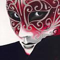 Silver Flair Mask by Patty Vicknair
