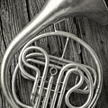 Silver French Horn by Garry Gay
