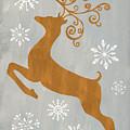 Silver Gold Reindeer by Debbie DeWitt