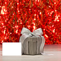 Silver Present And A Place Card  by U Schade