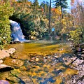 Silver Run Falls Cashiers Nc In Autumn by Lisa Wooten