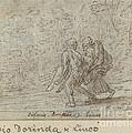 Silvio, Dorinda And Linco by Johann Wilhelm Baur