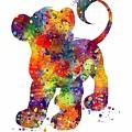 Simba The Lion King Watercolor Art  by Svetla Tancheva