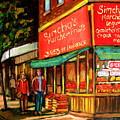 Simchas  Fruit Store by Carole Spandau