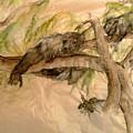 Simian And Beetle by Debbi Saccomanno Chan