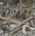 Simon The Cyrenian Compelled To Carry The Cross With Jesus by Tissot
