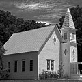 Simple Country Church - Bw by Christopher Holmes