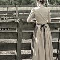 Simple Life Girl On Farm by Julie Palencia