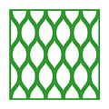 Simplified Latticework With Border In Dublin Green by Custom Home Fashions