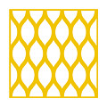 Simplified Latticework With Border In Mustard by Custom Home Fashions