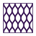Simplified Latticework With Border In Purple by Custom Home Fashions