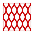 Simplified Latticework With Border In Red by Custom Home Fashions