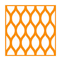 Simplified Latticework With Border In Tangerine by Custom Home Fashions