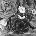 Simply Flowers 1 Black And White by Katreen Queen