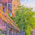 Simrishamn Street Scene Digital Painting by Antony McAulay