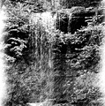 Simulated Pencil Drawing Tinker Falls. by David Lane