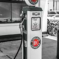 Sinclair Gasoline Gas Pump In Selective Color by Doug Camara