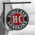 Sinclair Gasoline Round Sign In Selective Color by Doug Camara