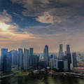Singapore Skyline by Janet Giles