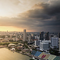 Singapore Storm Brewing by Robert Mcgillivray