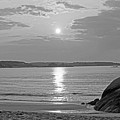 Singing Beach Rocky Sunrise Manchester By The Sea Ma Sand Black And White by Toby McGuire