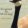 Singing Goose by Anita Hiltz