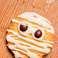 Single Homemade Mummy Cookie For Halloween by Jorgo Photography - Wall Art Gallery