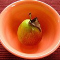 Single Pear In A Bowl Too by Lucyna A M Green