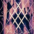 Sinister Figure Painted On A Curtain by Paul Bucknall
