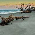 Sunset On Jekyll Island by Louis Dallara