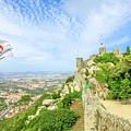 Sintra Castle Aerial by Benny Marty