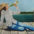 Sippin' On The Dock Of The Bay by Patricia DeHart