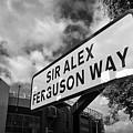 sir alex ferguson way old trafford Manchester by Joe Fox