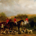 Sir Edmund Antrobus And The Old Surrey Fox Hounds At The Foot Of by William Barraud
