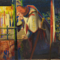 Sir Galahad At The Ruined Chapel by Dante Gabriel Rossetti