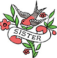 Sister Tattoo Design by Bob Newman