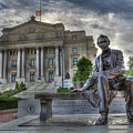 Sit With Me - Seated Lincoln Memorial By Gutzon Borglum  by Lee Dos Santos